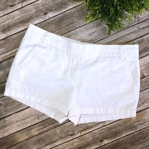 J Crew White Chino Shorts